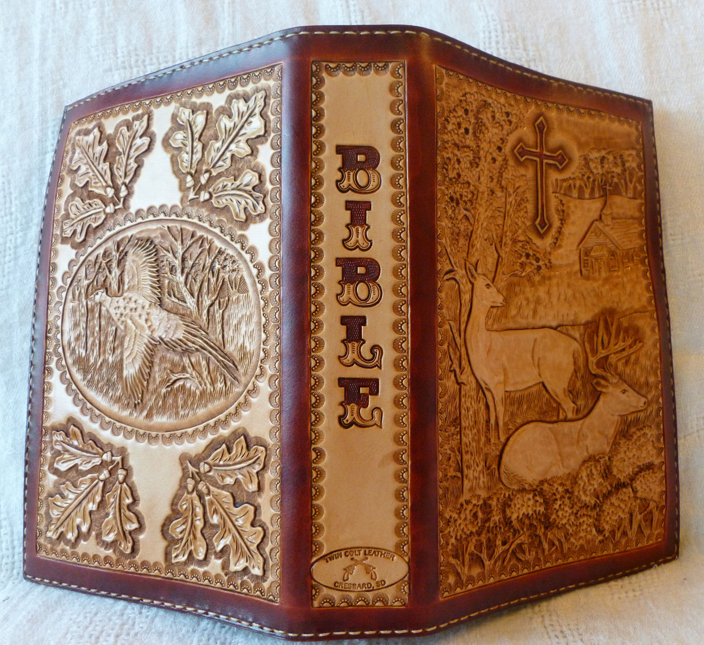 How To Make A Leather Book Cover ~ Twin colt leather